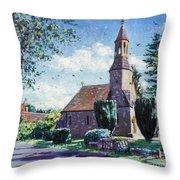 Village Church  Throw Pillow