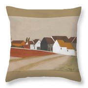 Village Derriere Le Bassin Throw Pillow