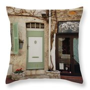 French Village Doors Throw Pillow