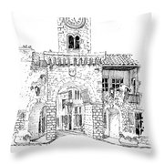 Village Gate In Old Le Thor France Throw Pillow