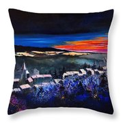 Village In A Winter Morninglight Throw Pillow