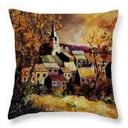 Village In Fall Throw Pillow