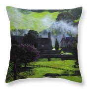 Village In North Wales Throw Pillow