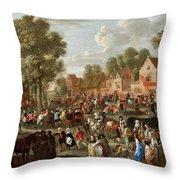 Village Kermis Throw Pillow