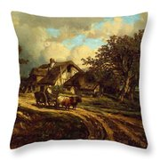 Village Landscape 1844 Throw Pillow