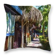 Village Life II - Siesta Key Throw Pillow