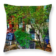 Village Life Throw Pillow