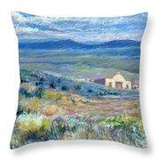 Village Mission Near Taos Throw Pillow