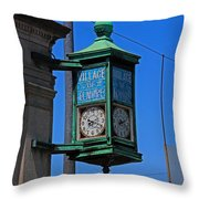Village Of Elmore Clock-vertical Throw Pillow