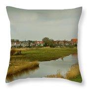 Village Of Kinderjik Netherlands Throw Pillow