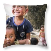 Village Play Throw Pillow