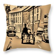 Village Scene Ireland Throw Pillow