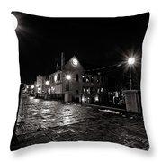 Village Walk Throw Pillow by CJ Schmit