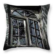 Village Window Throw Pillow