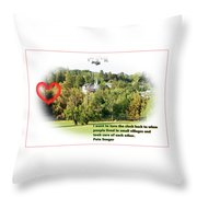 Village With History Throw Pillow