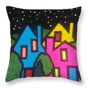 Villagescape Throw Pillow