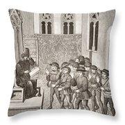 Villains Receiving Their Lord S Orders Throw Pillow