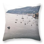 Villefranche-sur-mer Throw Pillow