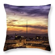 Vilnius Tv Tower Throw Pillow