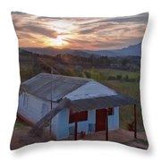 Vinales Sunset Throw Pillow