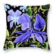 Vinca Art Throw Pillow