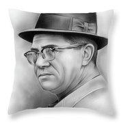 Vince Lombardi Throw Pillow