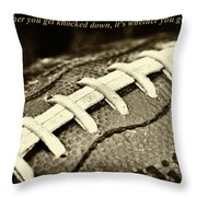 Vince Lombardi Quote Throw Pillow