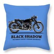 Vincent Black Shadow Throw Pillow