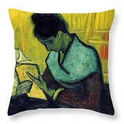 Vincent Van Gogh  A Novel Reader Throw Pillow