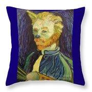Vincent Van Gogh Cat    Throw Pillow