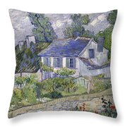 Vincent Van Gogh, Houses At Auvers Throw Pillow