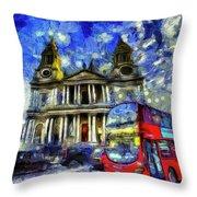 Vincent Van Gogh London Throw Pillow