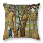 Vincent Van Gogh, The Garden Of Saint Paul's Hospital Throw Pillow