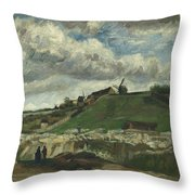 Vincent Van Gogh, The Hill Of Montmartre With Stone Quarry, Paris Throw Pillow