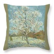 Vincent Van Gogh, The Pink Peach Tree Throw Pillow