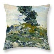 Vincent Van Gogh, The Rocks Throw Pillow