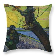 Vincent Van Gogh, The Sower Throw Pillow