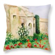 Vincent's Asylum Throw Pillow