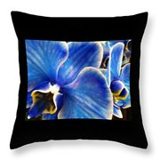 Vincent's Orchid Throw Pillow