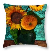 Vincent's Sunflowers 2 Throw Pillow