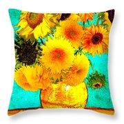 Vincent's Sunflowers 4 Throw Pillow