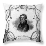 Vincenzo Bellini, Italian Composer Throw Pillow