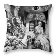 Vindobona Altarpiece IIi - Snakes And Ladders Throw Pillow