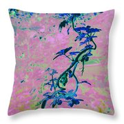 Vine Calligraphy Throw Pillow