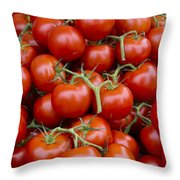 Vine Ripe Tomatos Throw Pillow