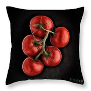 Vine Ripened Tomatoes. Throw Pillow