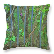 Vines Abstract IIi Throw Pillow