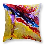 Vines And Glow Abstract Throw Pillow