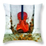 Vines And Violin Throw Pillow
