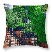 Vines Over Gate Throw Pillow